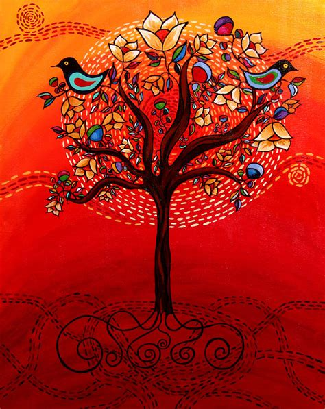 what is biography in art tree of life painting by catherine barry