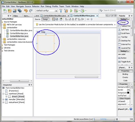 swing containers in java lab 19 netbeans gui builder matisse