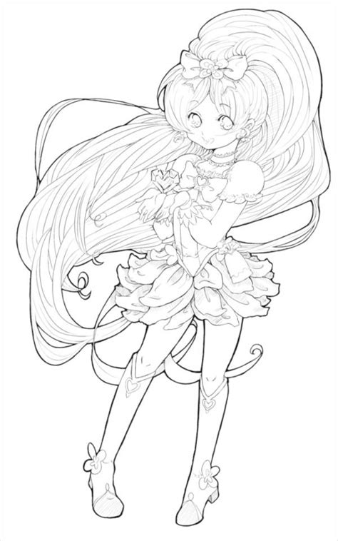 Free Anime Coloring Pages by Anime Coloring Pages 9 Free Pdf Jpg Gif Document