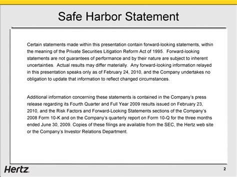 section 332 statement herc holdings inc form 8 k ex 99 1 march 2 2010