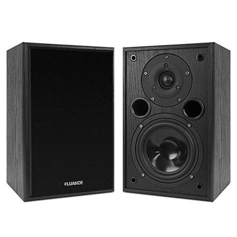 fluance av5 powerful dynamic two way bookshelf speakers