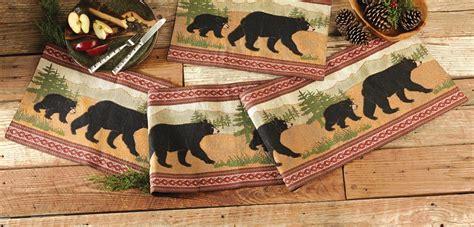 black bear table ls black bear table runner