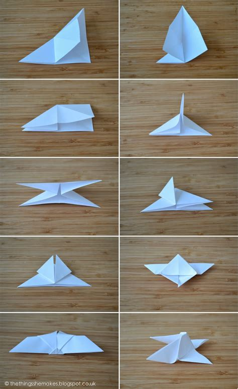 Steps For Paper - how to make origami butterflies the things she makes