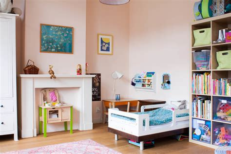 farrow and ball girls bedroom eclectic kids room in eggshell pink interiors by color