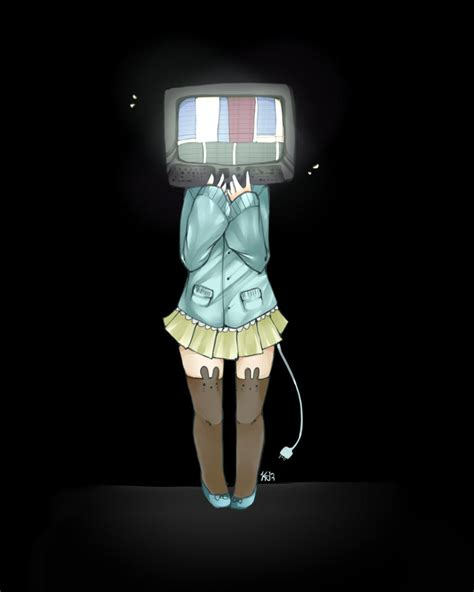 anime tv tv head by paper is food on deviantart