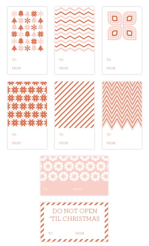 printable sheet of christmas tags printable pink gift wrap sheets gift tags