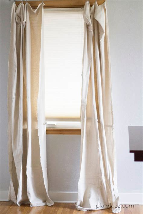 how to make drop cloth drapes 5 minute drop cloth curtains the house of plaidfuzz