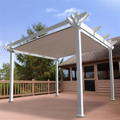 Free Standing Patio Awnings by Vinyl Pergolas Vinyl Garden Patio Covers From Vinyl