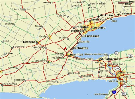 map of toronto canada and surrounding area hortico toronto niagara area map to hortico