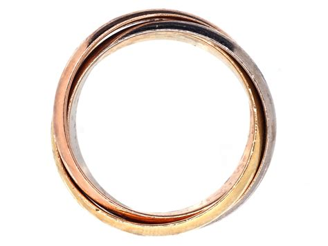 cartier three colour gold russian wedding ring the
