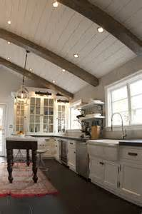 hewn antique beams on ceiling yes or no