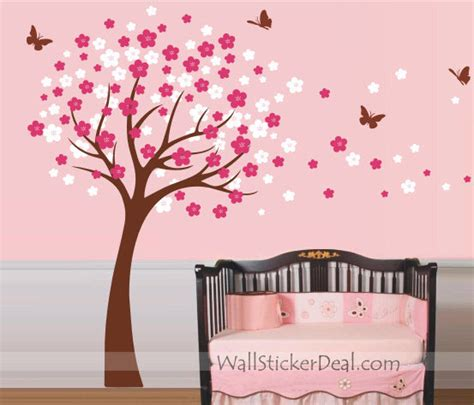 wall stickers cherry blossom tree cherry blossom tree with butterfly wall sticker