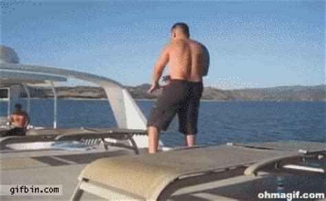 belly boat fails boat jumping fail funny gifs and animated gifs