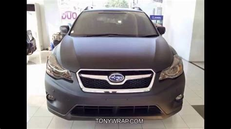 subaru crosstrek matte green matt black subaru wrap by tony wrap www tonywrap com