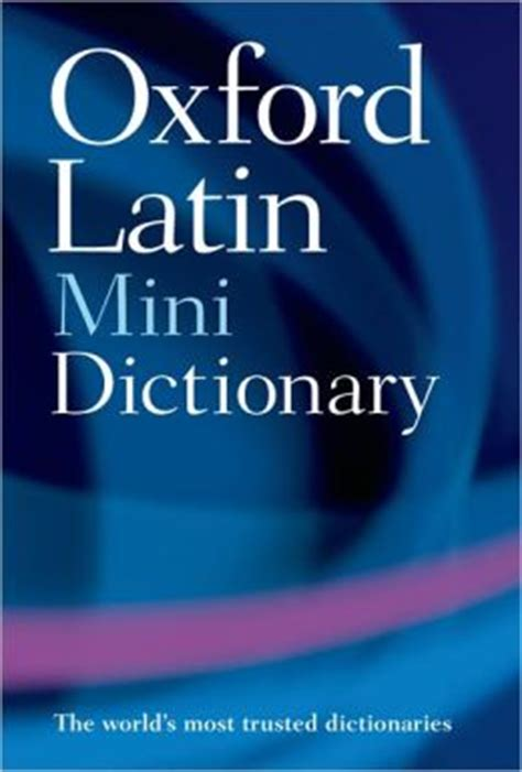 libro oxford mini dictionary and oxford latin mini dictionary by oxford university press usa 9780199534388 paperback