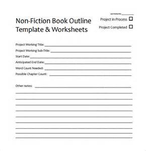 outline template word book outline template 9 free documents in pdf
