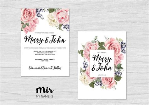 Free Wedding Invitations Printable Cards by Printable Wedding Invitation Save The Date Simple