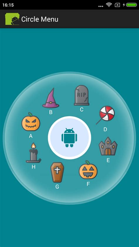 circular layout in android exle how to make design circle menu exle in android