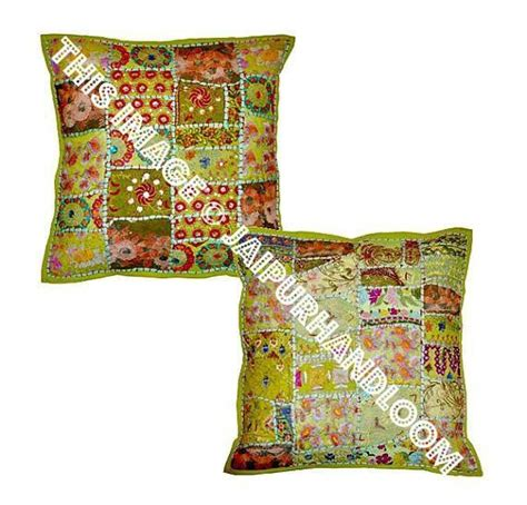 2pc set green vintage bohemian indian throw pillow for couch on sale