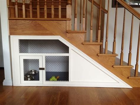 staircase dog house under the stairs custom dog home by ethan abramson living pinterest dog house