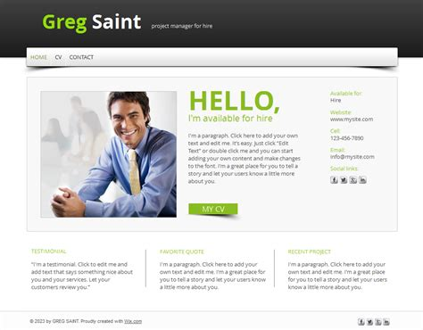 Cv Website Template by 15 Best Free Resume Cv Website Templates And Themes