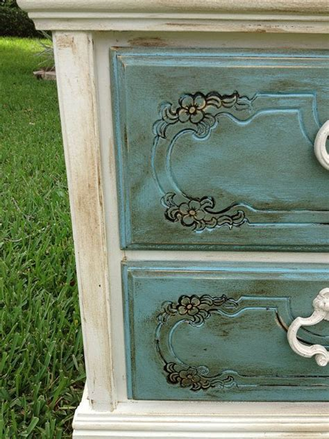 shabby chic chalk paint nightstand end table painting