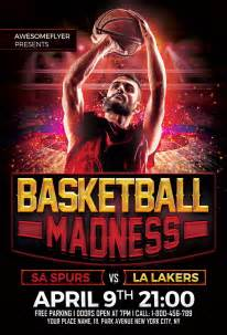 free basketball madness flyer template awesomeflyer com