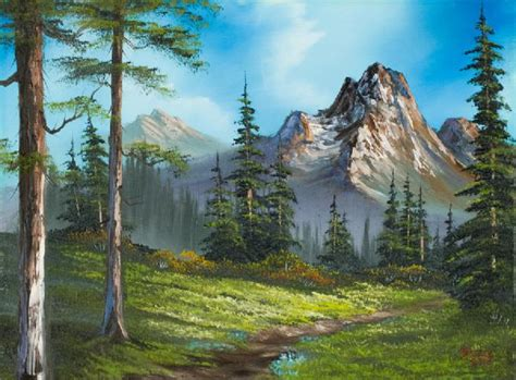 bob ross paintings auction bob ross wilderness trail paintings bob ross