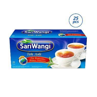 Teh Asli Sariwangi Isi 100 Teh Hitam Celup Melati Wangi Lop jual sariwangi teh asli 1 85 g x 25 pcs harga kualitas terjamin blibli
