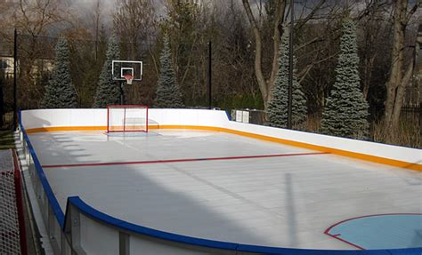 how to make a ice rink in your backyard custom ice rinks residential portable