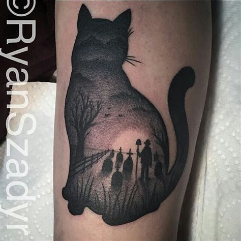 cat tattoo black and grey black and grey halloween tattoo google zoeken tattoo
