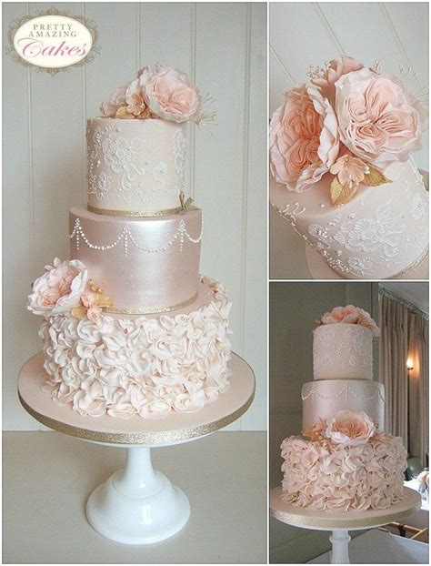 Wedding Cake Designs by Best 25 Lace Wedding Cakes Ideas On Vintage