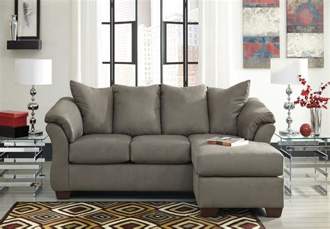 ashley furniture darcy sofa chaise darcy cobblestone chaise sectional from ashley 7500518