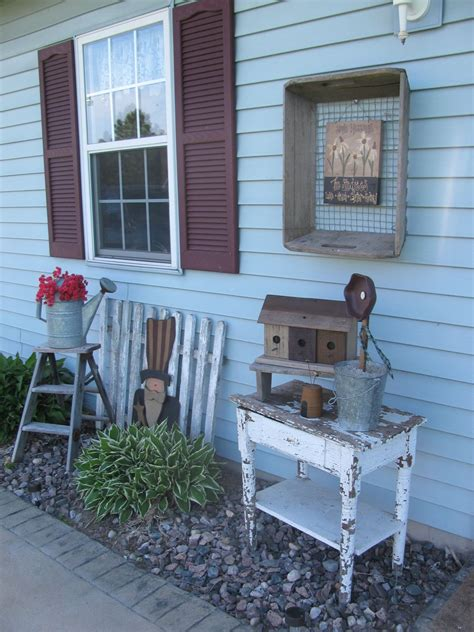 Primitive Outdoor Decor by Primitive Outdoor Decorating By Gainers Creek