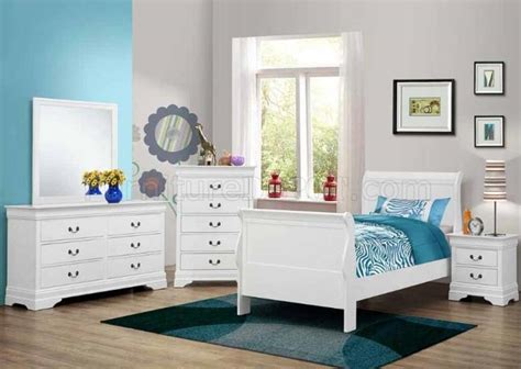 Coaster White Bedroom Furniture by Louis Philippe 204691 Bedroom Set In White By Coaster W