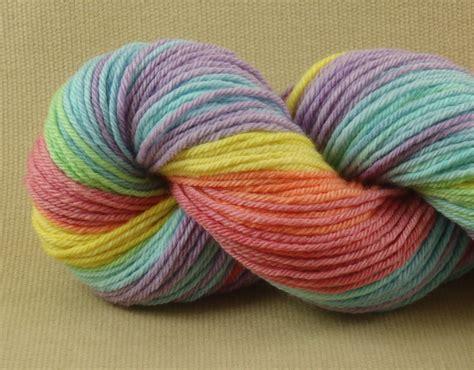 hand dyed yarn macaroon worsted weight yarn 100 merino