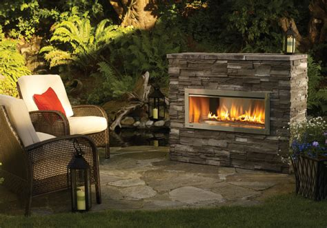 regency horizon hzo42 modern outdoor gas fireplace - Outdoor Modern Fireplace