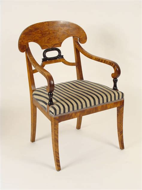Biedermeier Dining Chairs Set Of Six Biedermeier Dining Chairs At 1stdibs