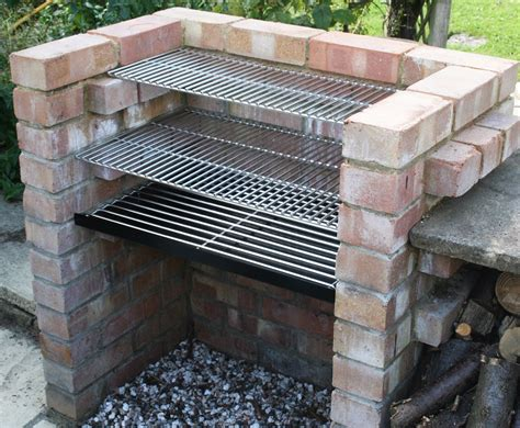 diy backyard grill charcoal diy brick bbq kit with 6mm stainless grill