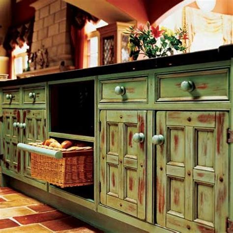 Rustic Green Kitchen Cabinets | the rustic kitchen style www freshinterior me