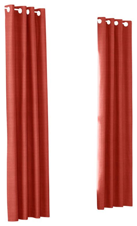 coral drapery panels coral structured linen custom grommet drapery single panel