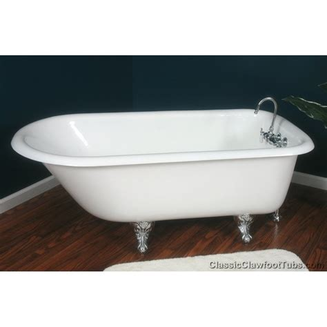 used cast iron bathtub 61 quot rolled rim cast iron clawfoot tub classic clawfoot tub