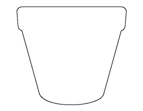 printable flowers in pots flower pot pattern use the printable outline for crafts