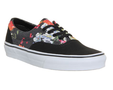 vans a fiori vans era multi floral black white st unisex sports
