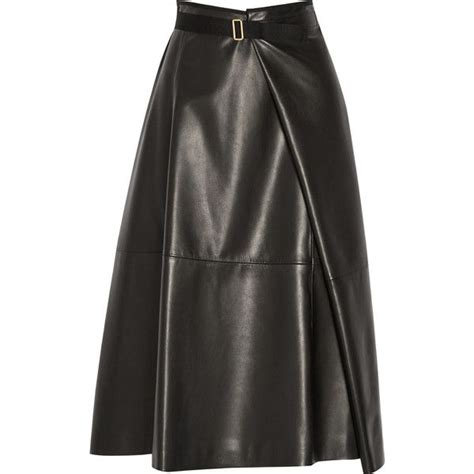 ramnar leather midi skirt 2 095 cad liked on polyvore