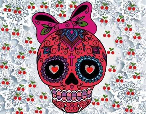 imagenes de una calaveras mexicanas dibujo de la calavera mexicana de la buena suerte pintado