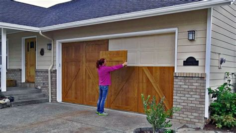 Wood Looking Garage Doors Garageskins Give You A Wood Look Without The Cost
