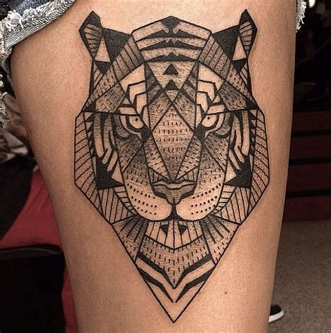 geometric tiger tattoo 80 geometry designs to commune with nature
