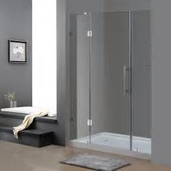 5 shower door aston 60 inch x 77 5 inch frameless hinge shower door with