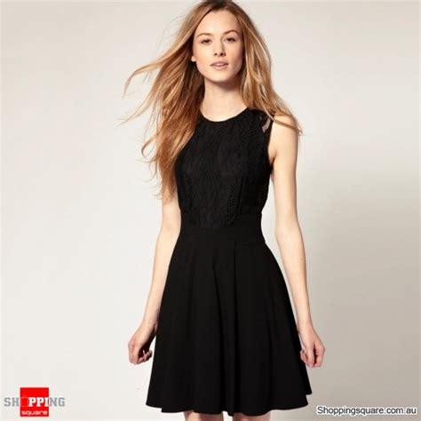 Dress Naqila Square Size 10 12 Thaluna Plus Jilbab S Lace Collar Sleeveless Mini Dress Black